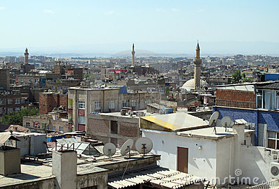 The roofs of Diyarbakir.
