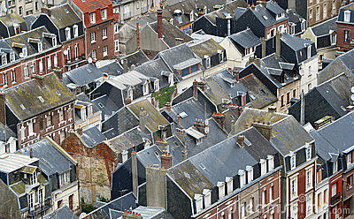 Roofs of French coastal city