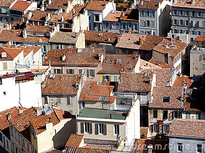 Roofs at Marseilles, France