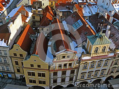 Roofs of old Prague Editorial Image