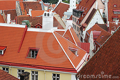 Roofs of old Tallinn