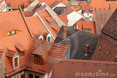 Roofs of the old town Meissen,