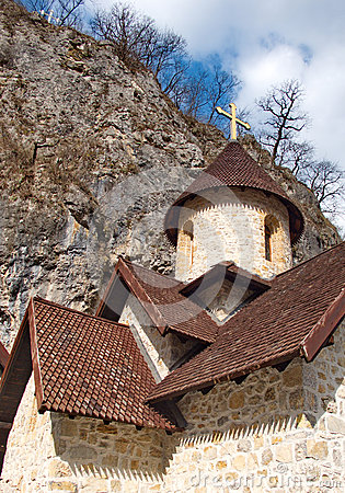 Free Roofs Patterns Of A Medieval Monastery Royalty Free Stock Photos - 64526918