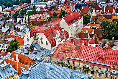 Roofs of Tallinn Old Town