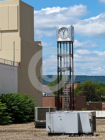 Rooftop Clock Tower