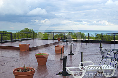 Rooftop Deck During a Summer Thunderstorm