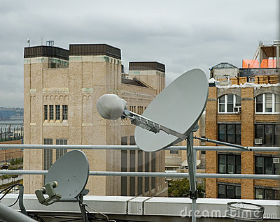 Rooftop Satellite Dishes