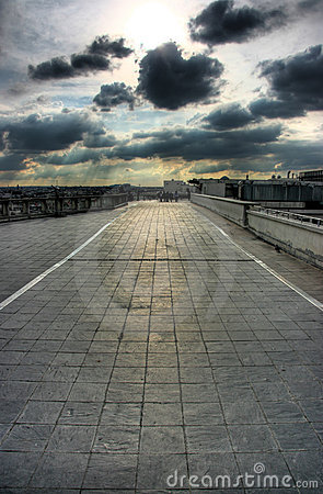 Free Rooftop Terrace In Paris Royalty Free Stock Photos - 6108928