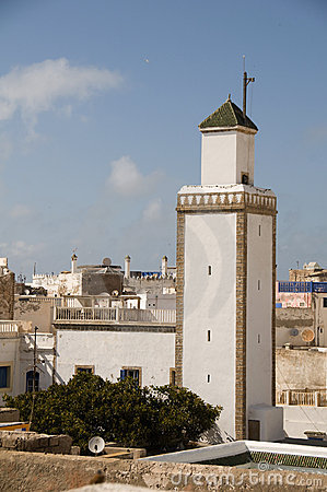 Rooftop view mosque essaouira morocco