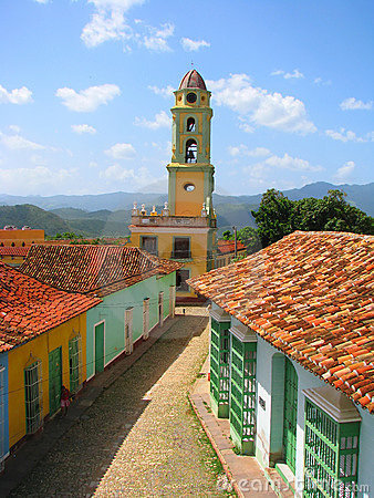 Rooftop view of old city in Trinidad