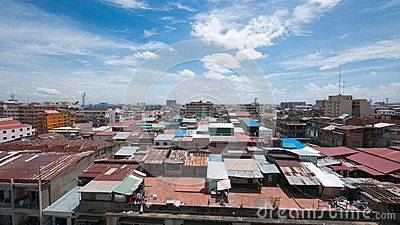 Rooftop view of Phnom Penh, Cambodia