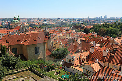 Rooftop view of Prague.