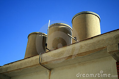 Rooftop water tanks