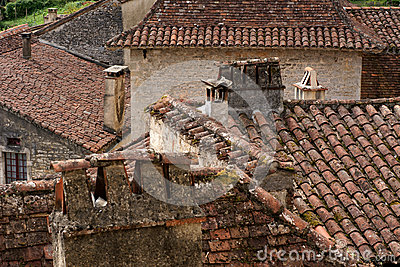 Rooftops in ancient French village