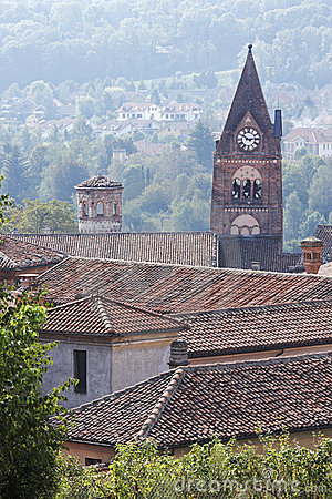 Free Rooftops And Church Steeple, Avigliana Stock Photography - 14507302