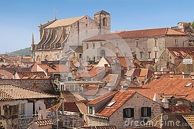 Rooftops jesuit church of st ignatius dubrovnik - The house in the old franciscan tower ...