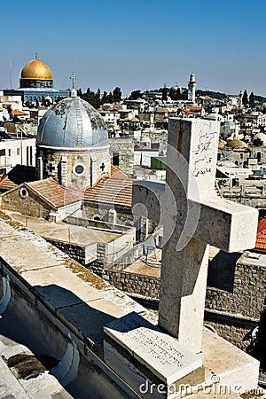 Free Rooftops Of Jerusalem Stock Photo - 568100