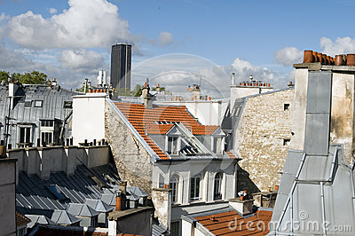Rooftops of Paris France Europe tallest office building Montparn