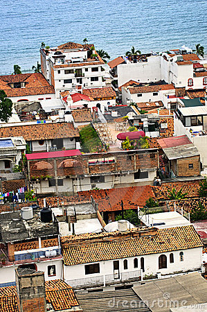 Rooftops in Puerto Vallarta, Mexico