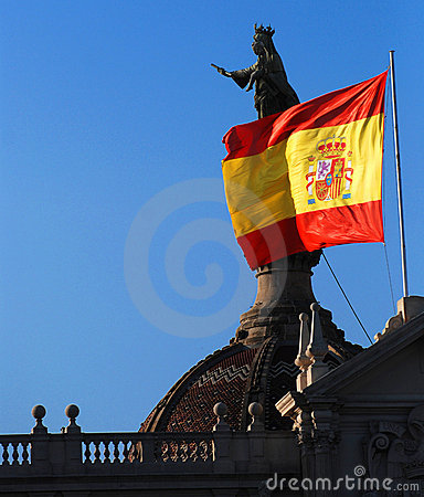 Rooftops and Spanish Flag