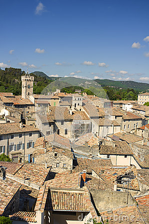 Free Rooftops, Viviers, France Royalty Free Stock Image - 25071496