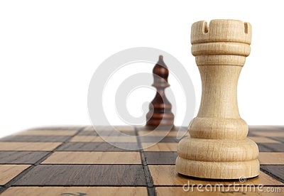 Rook and bishop on chessboard