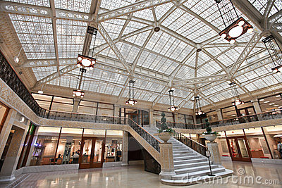 Rookery building interior Chicago Illinois Editorial Stock Image