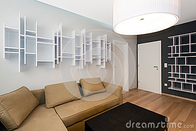 Самомоднейший интерьер жить-room