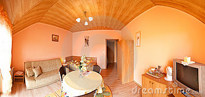 Room with arched ceiling
