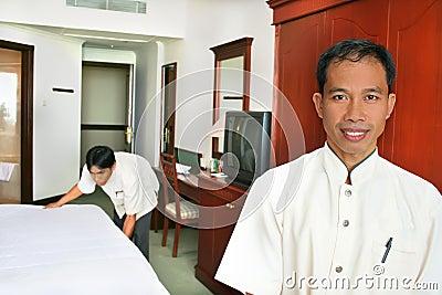 Room boy or housekeeping
