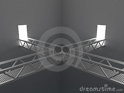 Room with bridges
