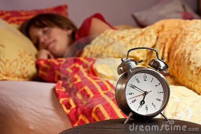 Room clock bed lazy sleep wake