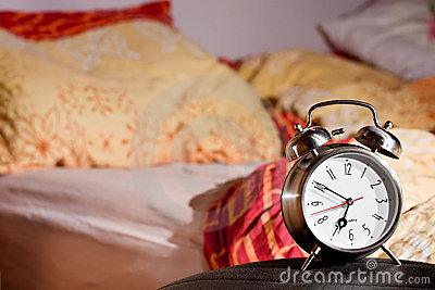 Room clock bed lazy sleep wake