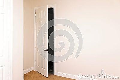 Room with door ajar