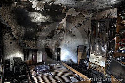 Room after fire