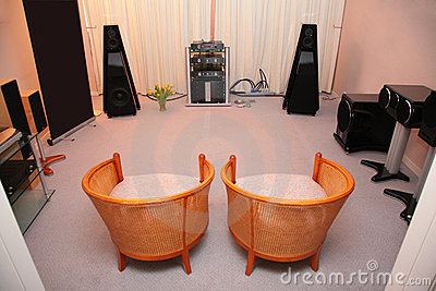 Room with hi-end audio system