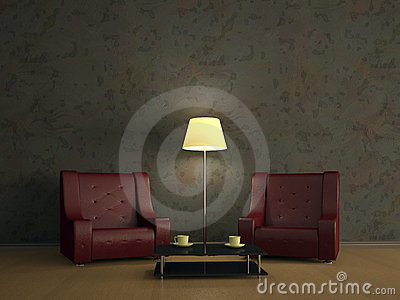 Room interior with two chairs