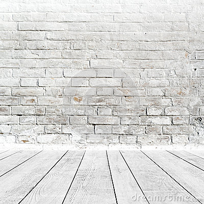 Free Room Interior With White Brick Wall And Wood Floor Stock Images - 39751024