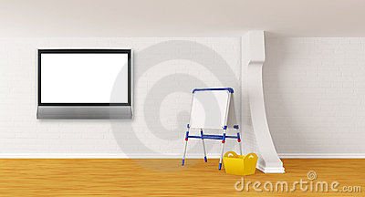 Room with kid s board and lcd tv