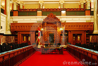 Room of parliament building