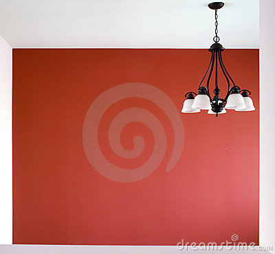 Room with a red wall