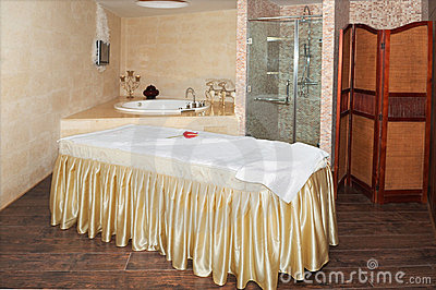Room for relaxation in a spa