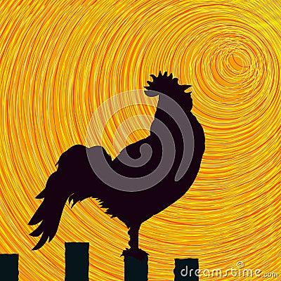 Rooster sketch background
