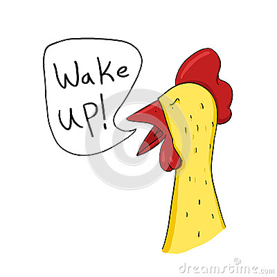 Free Rooster Wake Up Call Illustration Royalty Free Stock Images - 26659139