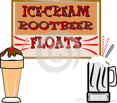 Root beer floats and ice cream