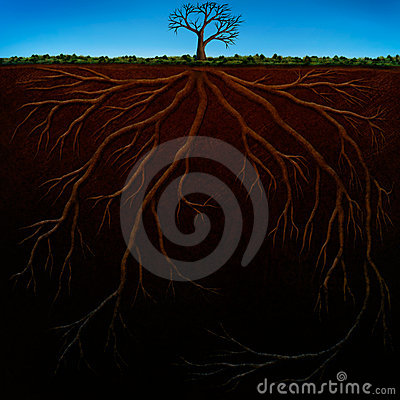 Root Structure Digital Painting