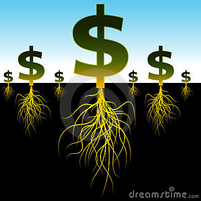 Rooted Dollar Signs