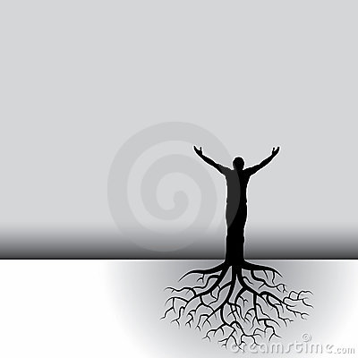 Free Rooted Man Stock Photos - 7572173