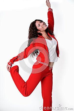 Ropa griega de la gimnasia de mujer