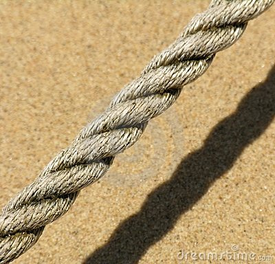 Rope on the beach